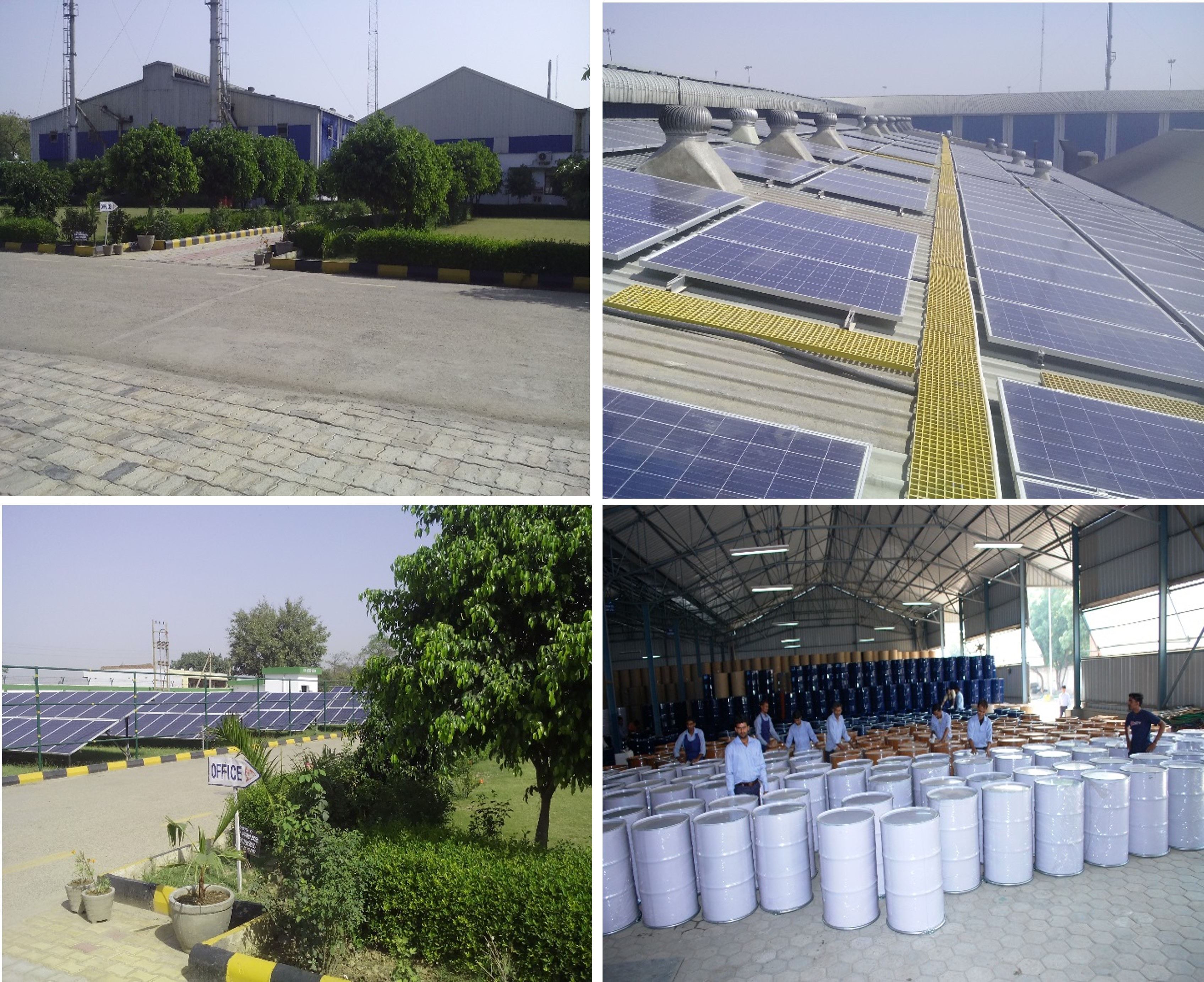 Industrial Packaging plant at Asaoti, Solar panels at IP Asaoti, Solar panels at IP Asaoti, Steel barrels manufactured at IP Asaoti