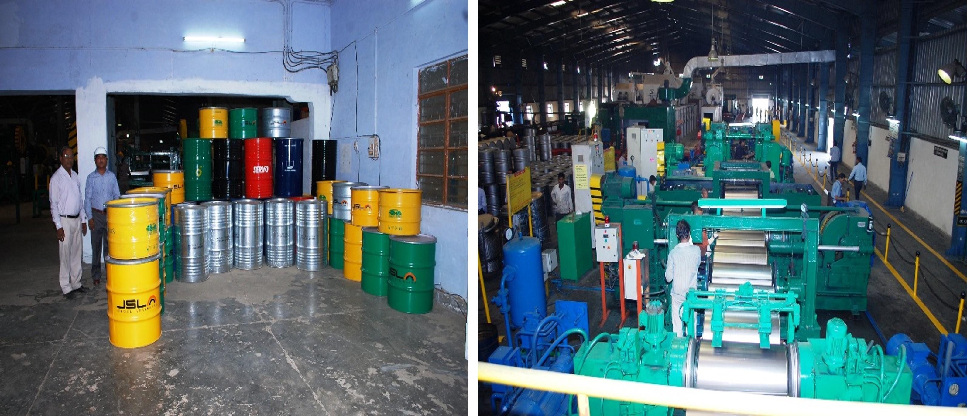 Steel barrels manufactured at IP Asaoti, Steel barrels being manufactured at IP Asaoti